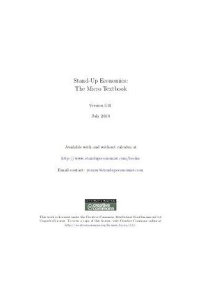 Stand up economics the micro textbook with calculus by yoram bauman 39779756 fandeluxe Image collections