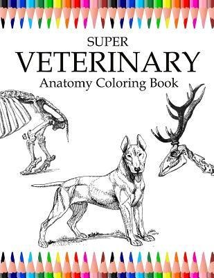 Super Veterinary Anatomy Coloring Book: Animals for Relax, Large 8.5x11 to Color, Design for Students