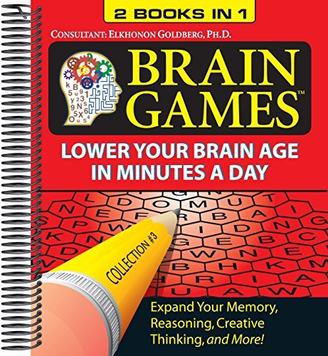 Brain Games - Lower Your Brain Age in Minutes a Day - 2 Books in 1!
