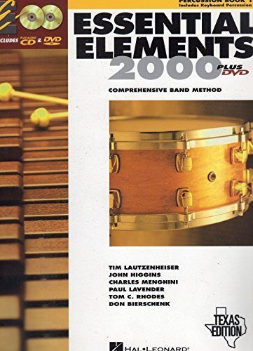 Essential Elements 2000: Comprehensive Band Method (Percussion Book 1) Texas Edition