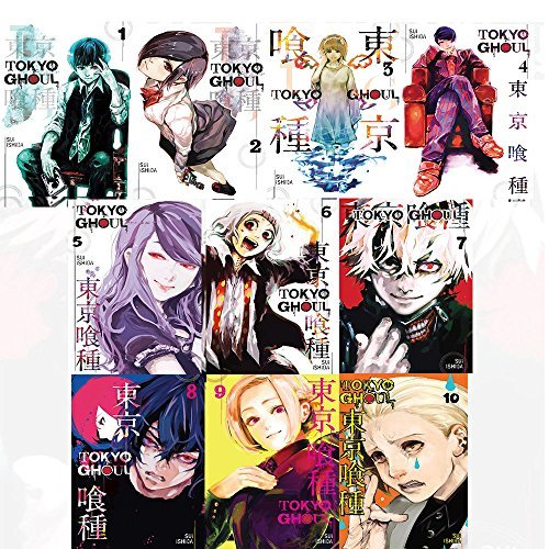 Tokyo Ghoul vol (1-10) Sui Ishida 10 Books Collection Set (Tokyo Ghoul, Vol. 1,Tokyo Ghoul, Vol. 2,Tokyo Ghoul Volume 3,Tokyo Ghoul Volume 4,Tokyo Ghoul Volume 5,Tokyo Ghoul Volume 6)