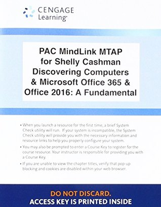 Lms Integrated Mindtap Computing, 1 Term (6 Months) Printed Access Card for Campbell/Freund/Frydenberg/Last/Pratt/Sebok/Vermaat's Shelly Cashman Series Discovering Computers & Microsoft Office 365 & Office 2016: A Fundamental Combined Approach
