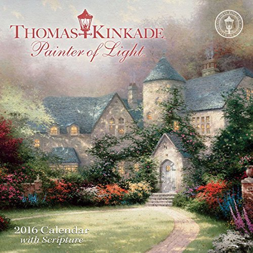 Thomas Kinkade Painter of Light with Scripture 2016 Mini Wall Calendar