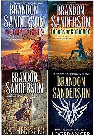 Stormlight Archive 4 Book Set: The Way of Kings, Words of Radiance, Edgedancer, Oathbringer