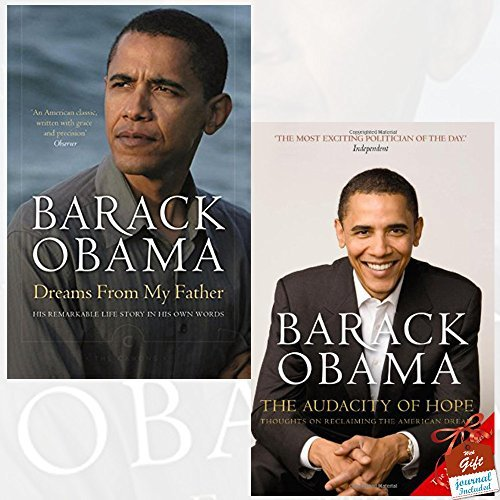 Dreams From My Father and The Audacity of Hope 2 Books Bundle Collection By Barack Obama With Gift Journal - A Story of Race and Inheritance, Thoughts on Reclaiming the American Dream