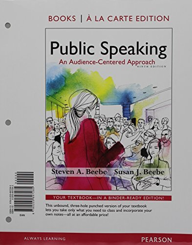 Public Speaking: An Audience-Centered Approach, Books a la Carte Edition; VitalSource Edition for Public Speaking: An Audience-Centered Approach -- Access Card (9th Edition)