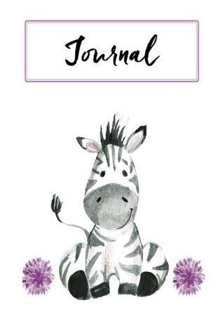 Journal: Cute Zebra: Notebook, Journal, Diary: 120 pages, 7 x 10 inches