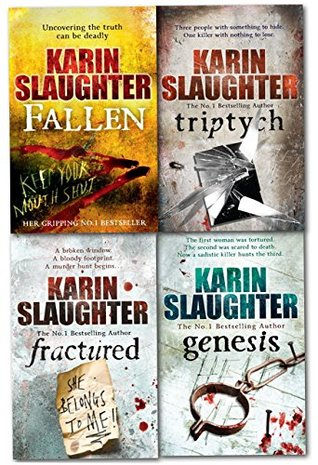 Karin Slaughter Will Trent Atlanta Series 4 Books Collection Set Triptych, Genesis,Fallen Etc....
