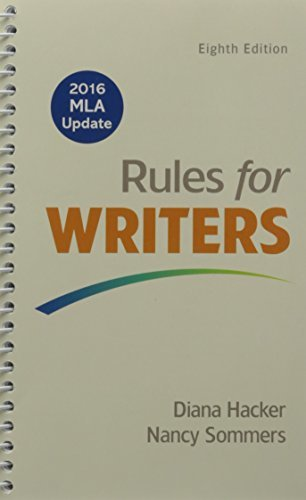 Rules for Writers, 2016 MLA Update Edition & LaunchPad Solo for Readers and Writers