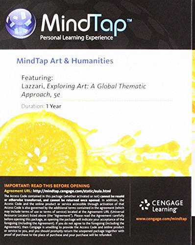 MindTap Art, 1 term (6 months) Printed Access Card for Lazzari/Schlesier's Exploring Art: A Global, Thematic Approach, 5th (MindTap Course List)
