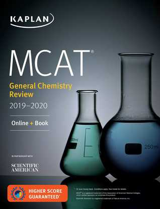 MCAT General Chemistry Review 2019-2020: Online + Book