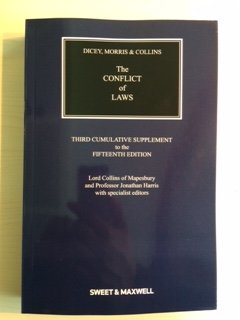 Dicey, Morris & Collins on the Conflict of Laws 3rd Supplement