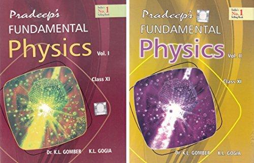 Pradeep's Fundamental Physics for Class 11 - 2018-2019 Session (Set of 2 Volumes)