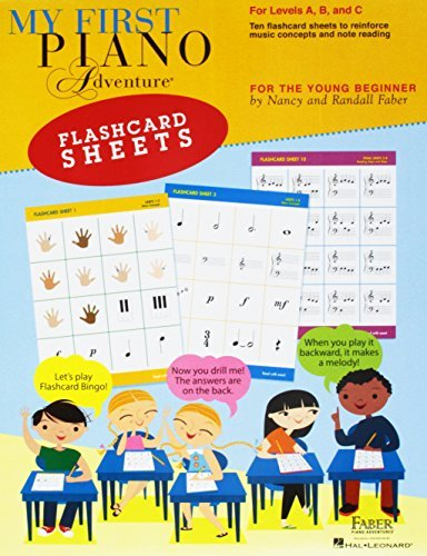 My First Piano Adventure Flashcard Sheets: For Levels A, B and C; for the Young Beginner (Faber Piano Adventures)