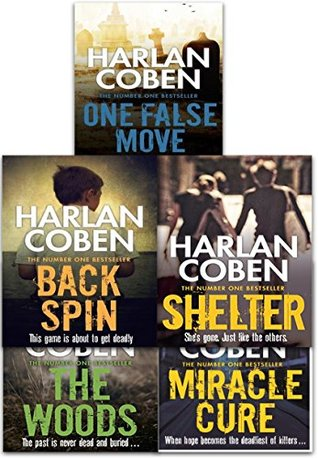 Back Spin / One False Move /The Woods / Miracle Cure / Shelter (Myron Bolitar Collection 5 Books Set)