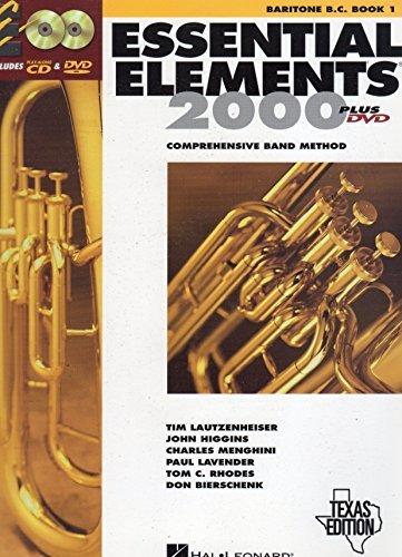 Essential Elements 2000: Comprehensive Band Method (Baritone B.C. Book 1) Texas Edition