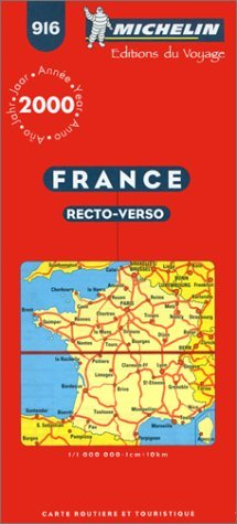 Michelin Reversible France Map No. 916