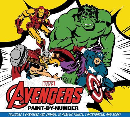 Marvel: The Avengers Paint-by-Number: Re-create Five Classic Scenes from the Marvel Universe