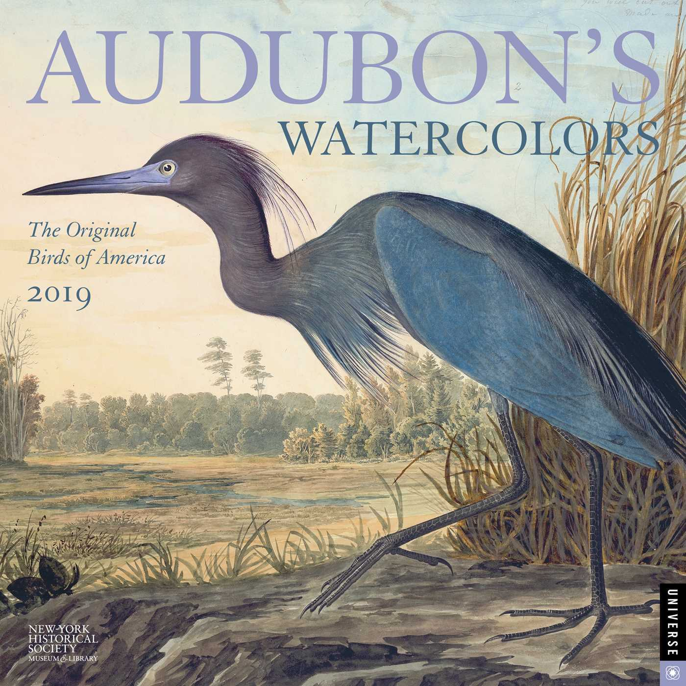 Audubon's Watercolors 2019 Wall Calendar