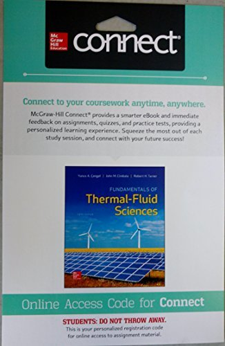 Fundamentals of Thermal-Fluid Sciences with 1 Semester Connect Access Card