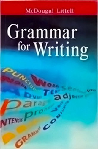 McDougal Littell Literature: Grammar for Writing Workbook Answer Key British Literature
