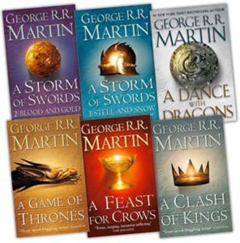 Game of Thrones Collection George R.R. Martin 6 Books Set (A Dance With Dragons, A Feast for Crows, A Storm of Swords: Blood and Gold: Part 2,A Game of Thrones..