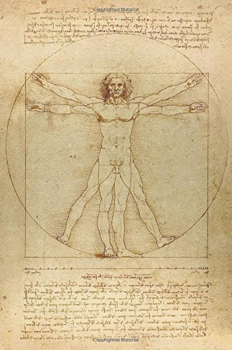 Leonardo da Vinci Notebooks - The Vitruvian Man: 120 Graph Paper / Grid Lines pages - Leonardo da Vinci?s Notebook, Journal, Sketchbook, Diary, Manuscript
