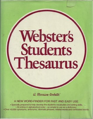 Webster's students thesaurus