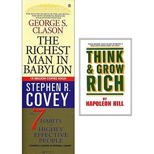 Richest man in babylon, 7 habits of highly effective people and think and grow rich 3 books collection set