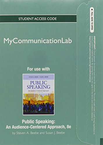 NEW MyCommunicationLab -- Standalone Access Card -- for Public Speaking: An Audience-Centered Approach (8th Edition)