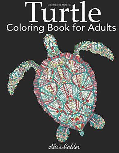 Turtle Coloring Book for Adults (Animal Coloring Books)