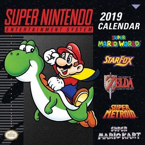 Super Nintendo Retro Art 2019 Wall Calendar