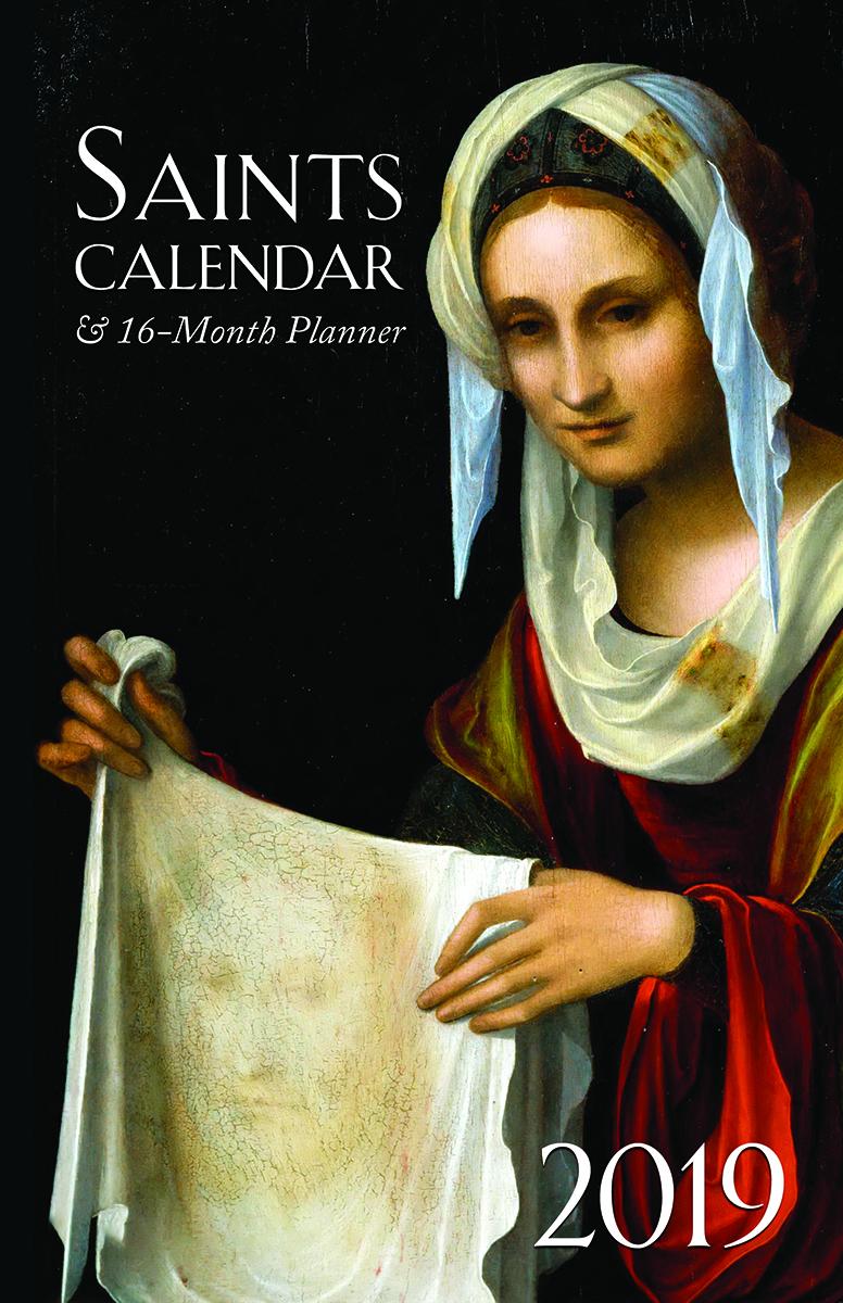 2019 Saints Calendar  16 Month Daily Planner