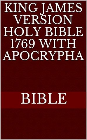 King james Version Holy Bible 1769 with Apocrypha