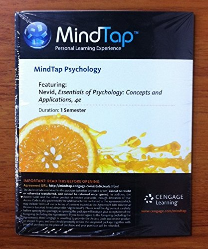 MindTap Access Code for Essentials of Psychology 4th Edition (1-semester)