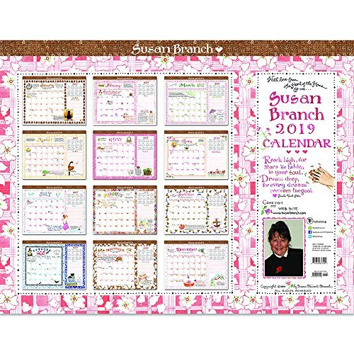 2019 Susan Branch Heart of the Home Desk Pad Blotter (22 x 17 Desk Calendar)