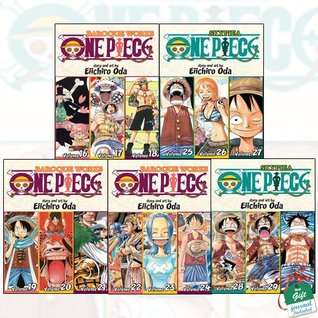 One Piece (3-in-1 Edition) Volume 6-10 Collection 5 Books Set With Gift Journal
