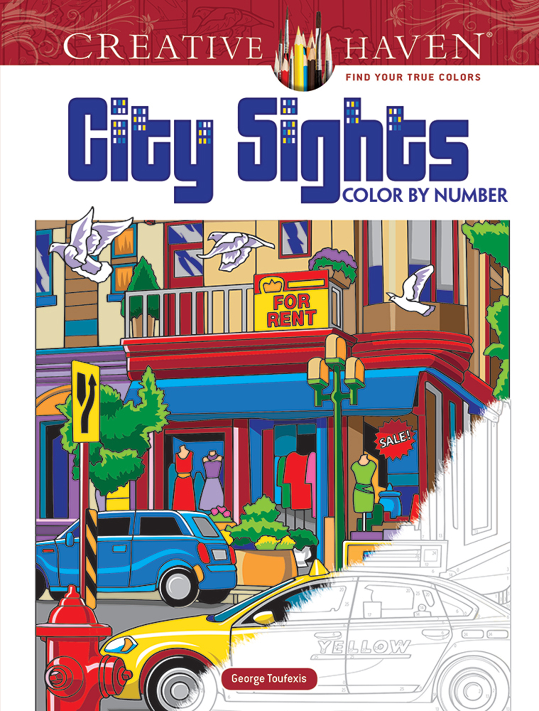 Creative Haven City Sights Color By Number