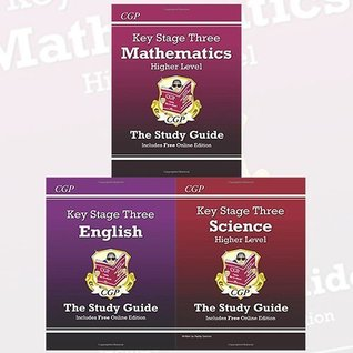 Key Stage Three Study Guide 3 Books Bundle Collection (KS3 Maths Study Guide (with online edition) - Higher, KS3 Science Study Guide (with online edition) - Higher, KS3 English Study Guide (with online edition))
