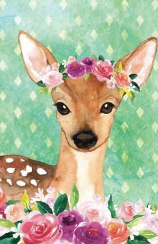 Journal Notebook For Animal Lovers Female Deer In Flowers: 162 Lined and Numbered Pages With Index Blank Journal For Journaling, Writing, Planning and Doodling. (Lined Journal Notebook) (Volume 55)