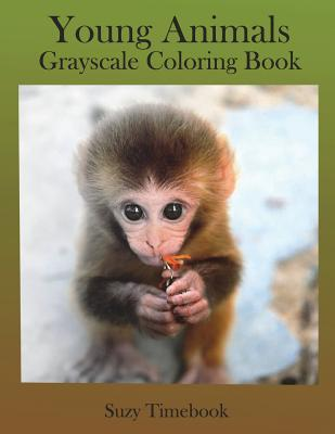Young Animals Grayscale Coloring Book: Grayscale Coloring for Adults and Grownups. Grayscale Photo Coloring Made You Relax, Stress Less, Meditation and Mindfulness Your Mind and Very Good Hobby. You Will Feel Like a Professional Artist by Using the Gra...
