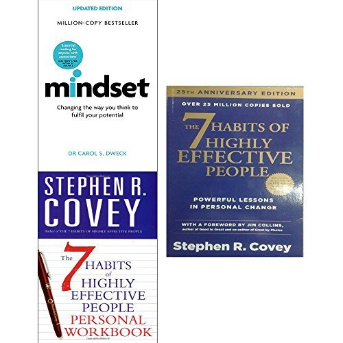 Mindset carol dweck and 7 habits of highly effective people personal workbook 3 books collection set