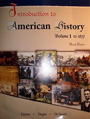 INTRO.TO AMERICAN HISTORY,VOL.I