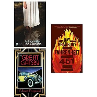 Crucible, great gatsby and fahrenheit 451 3 books collection set