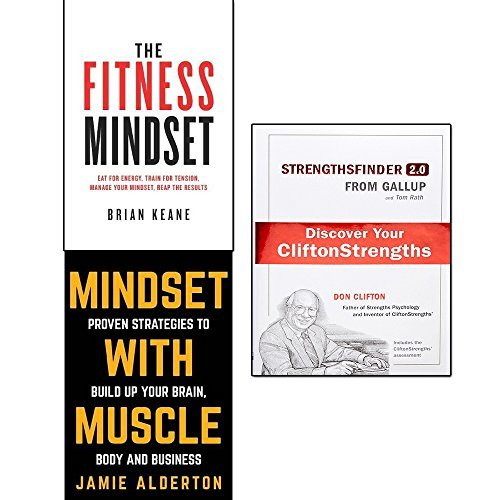strengthsfinder 2.0 [hardcover], the fitness mindset and mindset with muscle 3 books collection set - discover your strengths, eat for energy, train for tension, manage your mindset, proven strategies