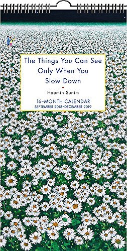 The Things You Can See Only When You Slow Down 16-Month 2018-2019 Wall Calendar: September 2018-December 2019