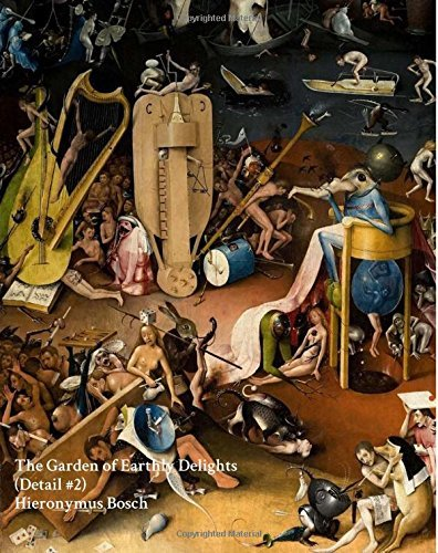 """The Garden of Earthly Delights (Detail #2) Hieronymus Bosch - Notebook/Journal: 8""""x10"""" College Ruled - 200 Pages (Fine Art Cover Journals) (Volume 28)"""