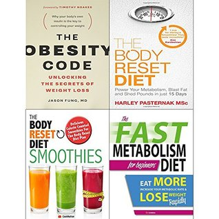 Obesity code, body reset diet, smoothies and fast metabolism diet 4 books collection set