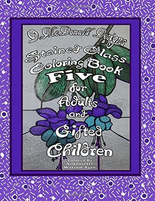 Stained Glass Coloring Book Five for Adults and Gifted Children