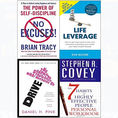 No Excuses! / Life Leverage / Drive / The 7 Habits of Highly Effective People Personal Workbook